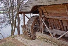 gammal waterdmill Royaltyfri Foto