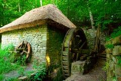 gammal watermill Royaltyfria Bilder