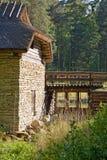 gammal watermill Arkivfoto