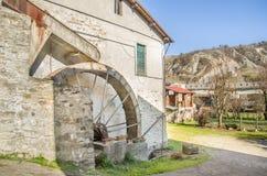 gammal watermill Fotografering för Bildbyråer