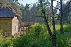 gammal watermill för bygd Fotografering för Bildbyråer