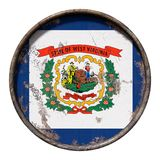 Gammal West Virginia flagga Royaltyfri Fotografi