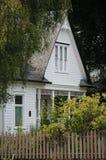 gammal white för hus Arkivfoto