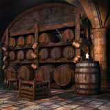 gammal wine för källare Arkivfoton