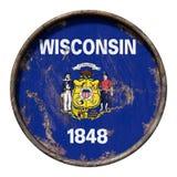 Gammal Wisconsin flagga Royaltyfria Foton