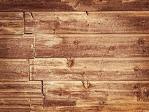 Gammal Wood bakgrund - färger för för tappningstilbrunt och guling. Arkivfoto