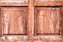 Gammal Wood bakgrund i fyrkantiga Shape Arkivfoto