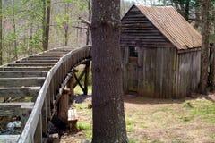 Gammal Wood byggnad och ho fotografering för bildbyråer