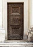 Gammal wood dörr Royaltyfri Foto