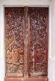Gammal wood dörr Royaltyfria Foton