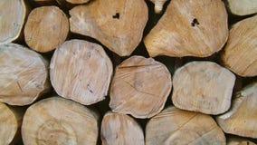 Gammal wood det fria i gården, hdvideo arkivfilmer