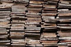 Gammal Wood hög, bunt av trä Arkivfoton