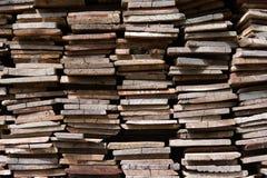 Gammal Wood hög, bunt av trä Royaltyfri Bild