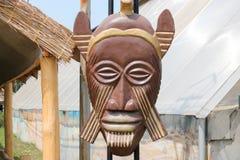 Gammal wood maskering Royaltyfri Foto