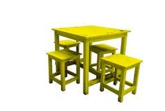 Gammal Wood tabell- och stoluppsättning Royaltyfri Bild