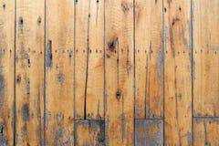 Gammal wood textur av paletter för bakgrund arkivfoto