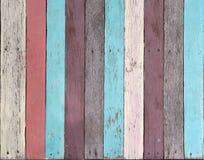 Gammal wood textur många av färg, tappningstil arkivfoto