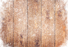 Gammal wood textur med snö Royaltyfria Foton