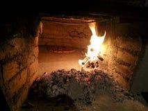 Gammal Wood ugn Arkivfoton