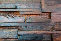 Gammal wood vägg Arkivbild