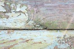 Gammal woodan vägg, sjaskig målarfärg som bakgrund Arkivfoton