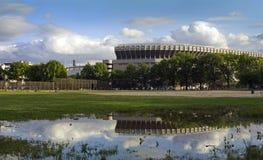 Gammal Yankee Stadium i Bronxen Royaltyfri Bild
