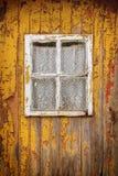 gammal yellow för dörr Fotografering för Bildbyråer