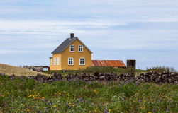 gammal yellow för hus Arkivfoton