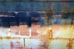 Gammal yttersida för metall av ett skepp Fotografering för Bildbyråer