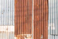 gammal zinc för bakgrund Royaltyfri Fotografi