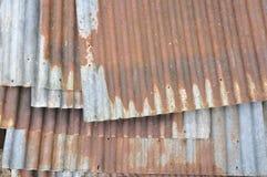 gammal zinc för bakgrundsstaket Royaltyfria Bilder