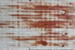 Gammal zincstaketbakgrund Arkivbilder