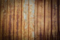 Gammal zinkyttersida, abstrakt gammal zink för bakgrund royaltyfri foto
