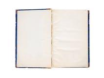 gammala öppna sidor för blank bok Arkivbild