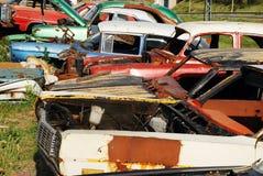 gammala övergivna bilar Royaltyfri Foto