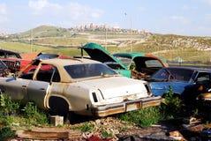 gammala övergivna bilar Royaltyfri Fotografi
