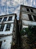 gammala övergivna hus Royaltyfri Fotografi