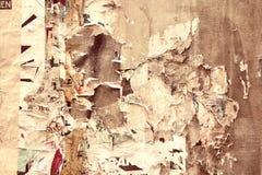 Gammala affischer Arkivfoton