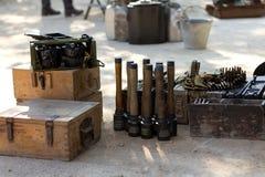 gammala ammunitionar Arkivbild