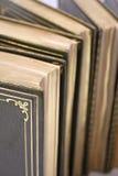 gammala antikvitetböcker Arkivfoto
