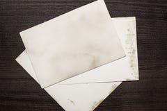 Gammala ark av papper Fotografering för Bildbyråer