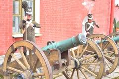 gammala artillerikanoner Royaltyfri Fotografi