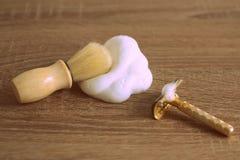 Gammala barberarehjälpmedel Arkivfoto