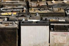 gammala batterier Arkivfoton