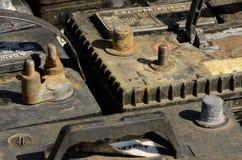 gammala batterier Royaltyfri Bild
