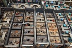 gammala batterier Royaltyfria Foton