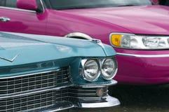 Gammala bilar som är retro Royaltyfri Fotografi