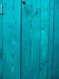 gammala blåa dörrar Trä texturerar Textur av metall Royaltyfri Fotografi