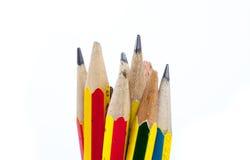 gammala blyertspennor Arkivbilder