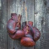 gammala boxninghandskar Royaltyfria Foton